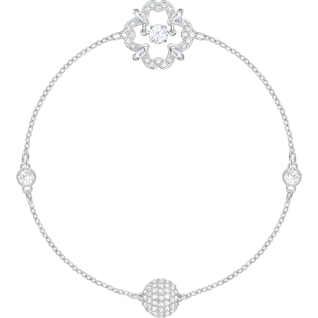 Swarovski Remix Collection Sparkling Dance Flower Strand, 白色, 鍍白金色 - Swarovski, 5396228