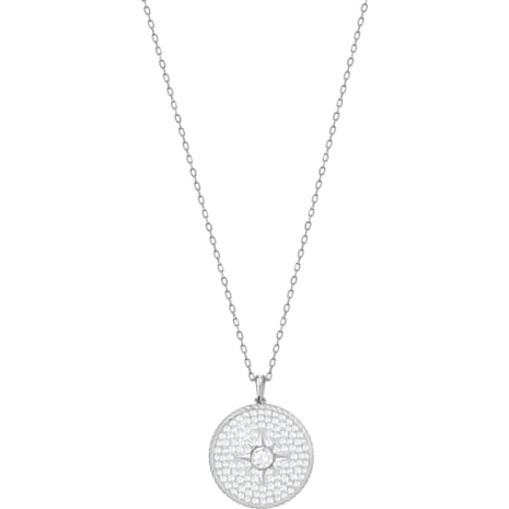 Locket Pendant, White, Rhodium plated - Swarovski, 5397124