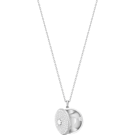 Pendentif Locket, blanc, Métal rhodié - Swarovski, 5397124