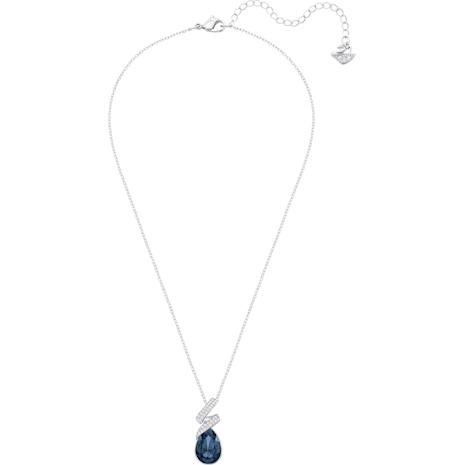 Laureen Pendant, Blue, Rhodium plated - Swarovski, 5408226