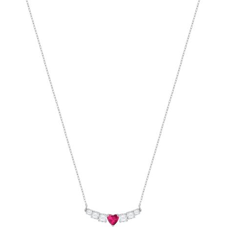 Love Necklace, White, Rhodium plated - Swarovski, 5408434