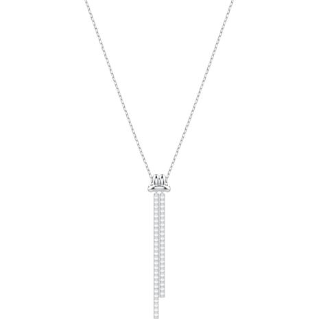 Pendentif en Y Lifelong, blanc, Métal rhodié - Swarovski, 5408435
