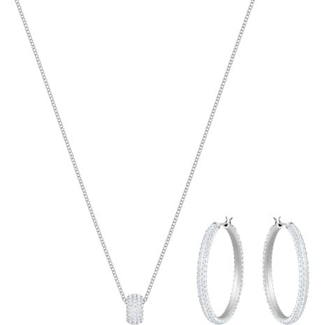 Stone Set, White, Rhodium plating - Swarovski, 5408456