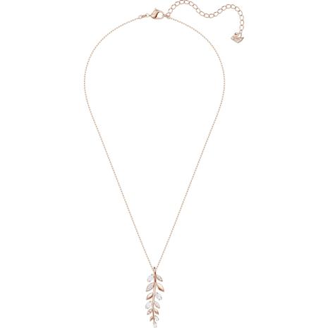 Pendentif Mayfly, blanc, Métal doré rose - Swarovski, 5409340