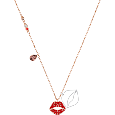 Mine Lip Necklace, Multi-colored, Mixed metal finish - Swarovski, 5409468