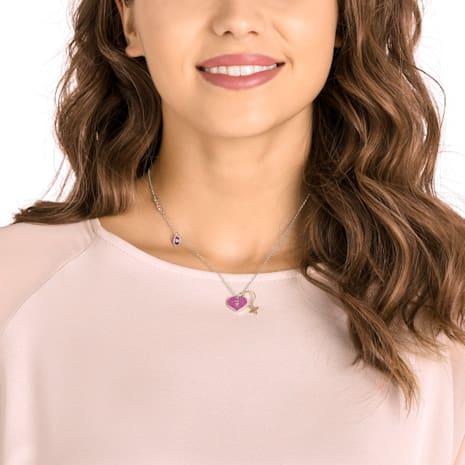 Mine Heart Necklace, Multi-colored, Mixed metal finish - Swarovski, 5409469
