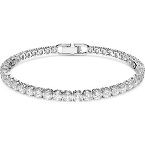 Bracelet Tennis Deluxe, blanc, Métal rhodié - Swarovski, 5409771