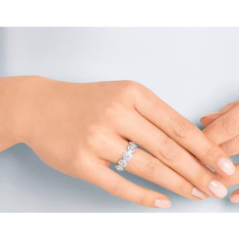 Angelic 戒指, 白色, 鍍白金色 - Swarovski, 5410290