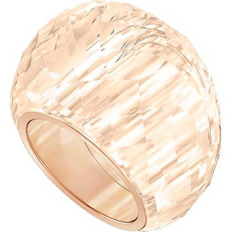 Swarovski Nirvana Ring, Brown, Rose-gold tone PVD - Swarovski, 5410328