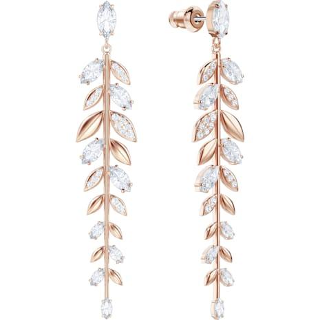 Boucles d'oreilles Mayfly, blanc, Métal doré rose - Swarovski, 5410410