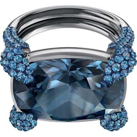Make Cocktail 戒指, 藍色, 鍍黑鉻色 - Swarovski, 5410664