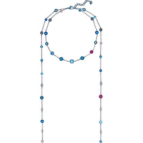 Sautoir Model, multicolore, Revêtement PVD bleu - Swarovski, 5410991