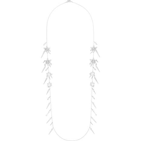 Sautoir Merry, blanc, Métal rhodié - Swarovski, 5411001