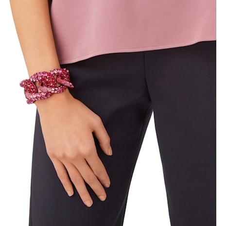 Tabloid Cuff, Multi-colored, Pink lacquer plating - Swarovski, 5411010