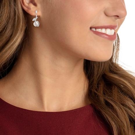 Leonore Pierced Earrings, Multi-colored, Rhodium plated - Swarovski, 5412639