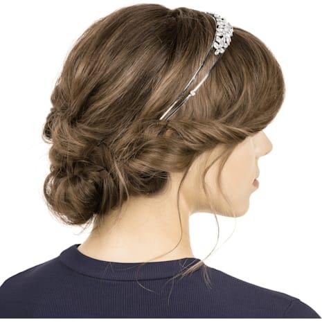 Dill Headband, White, Rhodium plating - Swarovski, 5413755