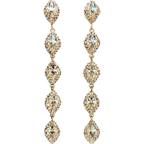 Moselle Mini Drop Pierced Earrings, Gold-tone plated - Swarovski, 5414435