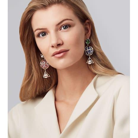 Mary Katrantzou Nostalgia Drop Pierced Earrings, Gold-tone plated - Swarovski, 5414518
