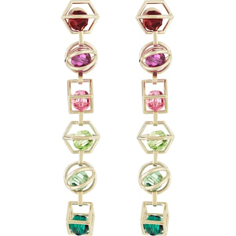 Mary Katrantzou Nostalgia Duster Pierced Earrings, Gold-tone plated - Swarovski, 5414519