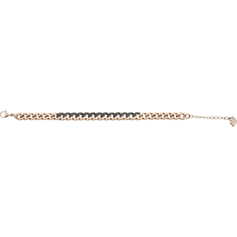 Lane Bracelet, Black, Rose-gold tone plated - Swarovski, 5414993
