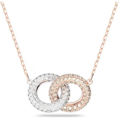 Stone 項鏈, 多色設計, 鍍玫瑰金色調 - Swarovski, 5414999