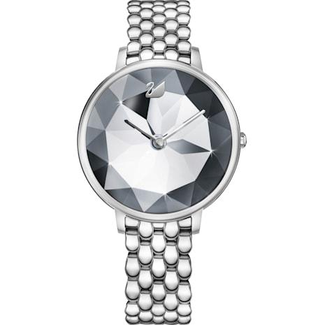 Crystal Lake Saat, Metal bileklik, Beyaz, Paslanmaz çelik - Swarovski, 5416017