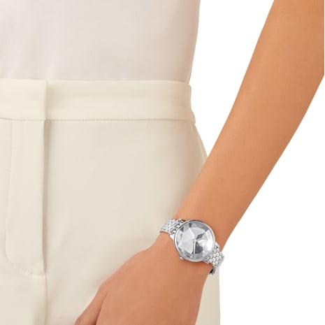 Crystal Lake Uhr, Metallarmband, weiss, Edelstahl - Swarovski, 5416017