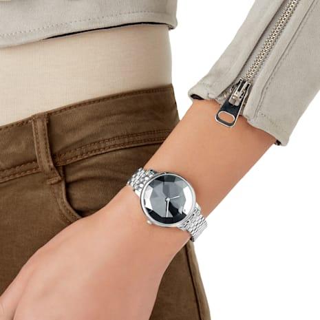 Reloj Crystal Lake, Brazalete de metal, gris oscuro, acero inoxidable - Swarovski, 5416020