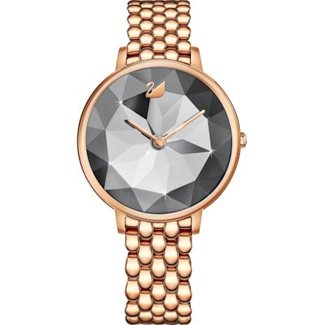 Reloj Crystal Lake, Brazalete de metal, gris, PVD en tono Oro Rosa - Swarovski, 5416023