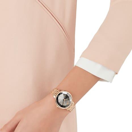 Crystal Lake Watch, Metal bracelet, Gray, Rose-gold tone PVD - Swarovski, 5416023