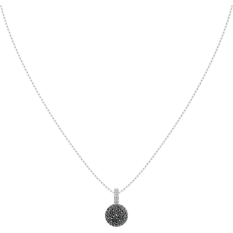 Lollypop Necklace, Gray, Rhodium plated - Swarovski, 5416519