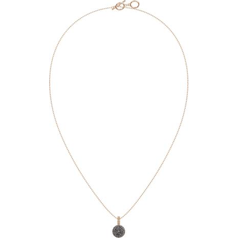 Lollypop Necklace, Black, Rose-gold tone plated - Swarovski, 5416520