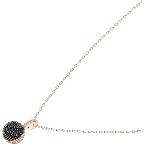 Lollypop Necklace, Black, Rose-gold tone plated - Swarovski, 5416520
