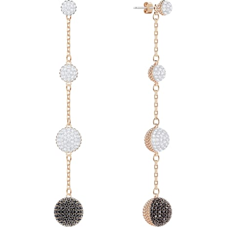 Lollypop Pierced Earrings, Multi-colored, Rose-gold tone plated - Swarovski, 5416527