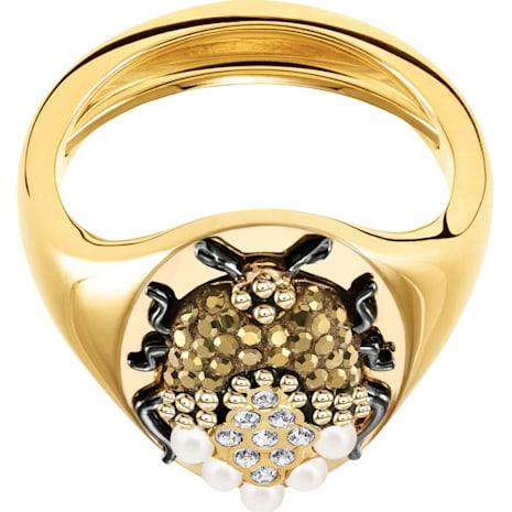 Magnetic Signet Ring, Multi-colored, Mixed metal finish - Swarovski, 5416785