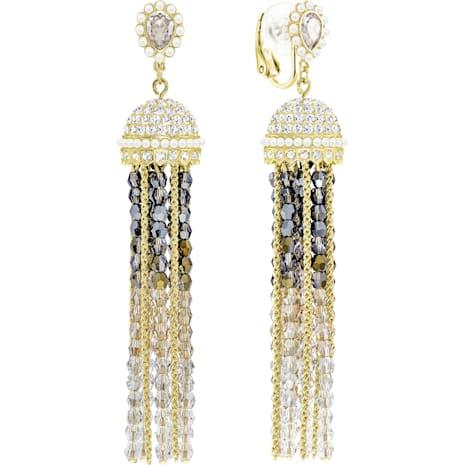 Millennium Clip Earrings, Multi-colored, Gold-tone plated - Swarovski, 5416882