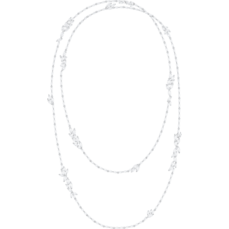 Louison 項鏈, 白色, 鍍白金色 - Swarovski, 5418111