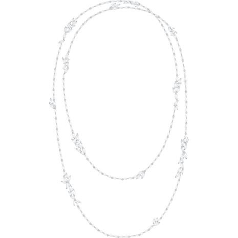 Sautoir Louison, blanc, Métal rhodié - Swarovski, 5418111
