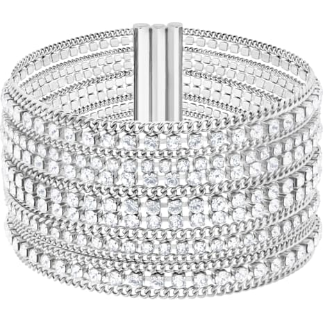Fit Bracelet, White, Stainless steel - Swarovski, 5421826