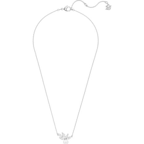 Louison Pearl 鏈墜, 白色, 鍍白金色 - Swarovski, 5422685