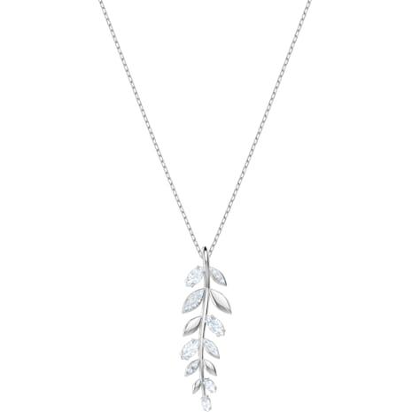 Mayfly Pendant, White, Rhodium plated - Swarovski, 5423184