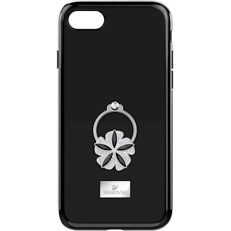 Mazy ring Smartphone Case with integrated Bumper, iPhone® 8, Black - Swarovski, 5423482