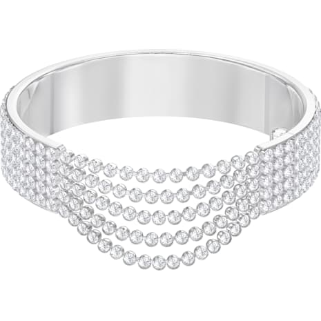 Fit Bangle, White, Stainless steel - Swarovski, 5424589