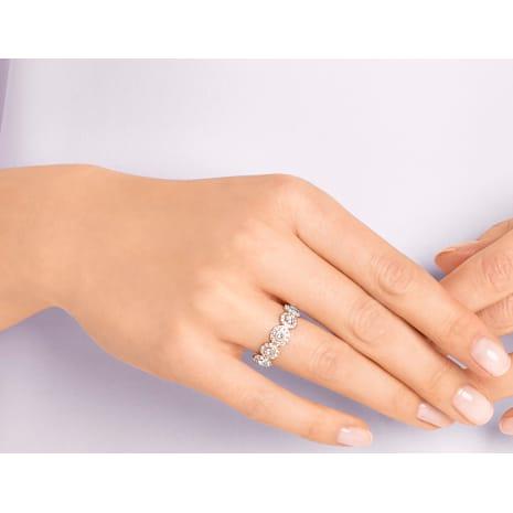 Angelic Кольцо, Белый Кристалл, Покрытие оттенка розового золота - Swarovski, 5424994