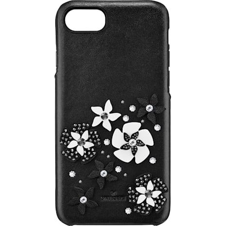 Mazy Smartphone Schutzhülle mit integriertem Stoßschutz, iPhone® 8, schwarz - Swarovski, 5427019