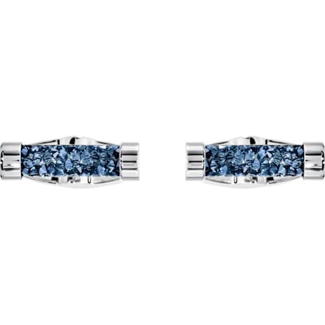 Crystaldust 커프스링크, 블루, 스테인리스 스틸 - Swarovski, 5427116