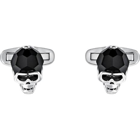 Taddeo Cuff Links, Black, Palladium plated - Swarovski, 5427147