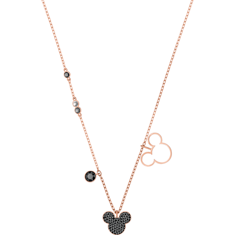 Mickey & Minnie Pendant, Multi-colored, Rose-gold tone plated - Swarovski, 5429081
