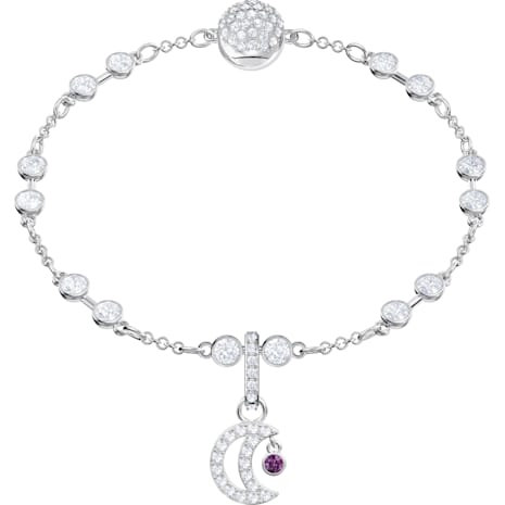 Swarovski Remix Collection Moon Charm, blanc, Métal rhodié - Swarovski, 5429774