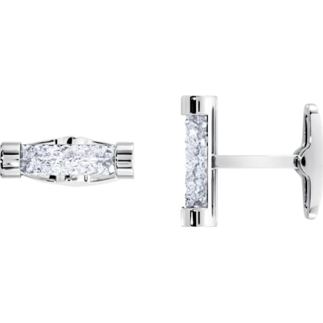 Crystaldust Cuff Links, White, Stainless steel - Swarovski, 5429896